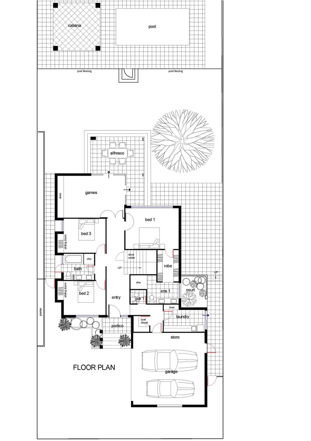 The Oceanview Ground Floor Plan