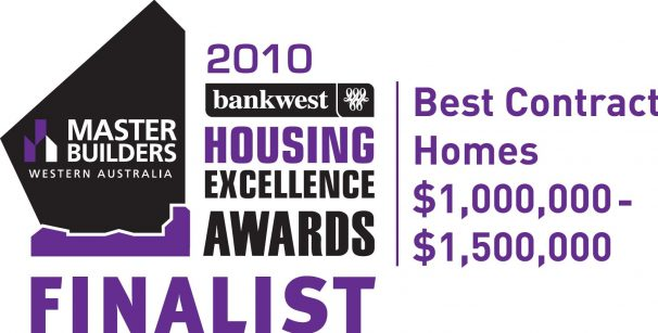 The 2010 MB winning award for Exclusive Residence.
