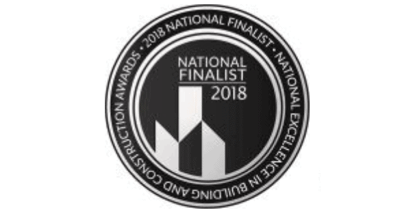 A 2018 National Excellence in Building and Construction finalist award.