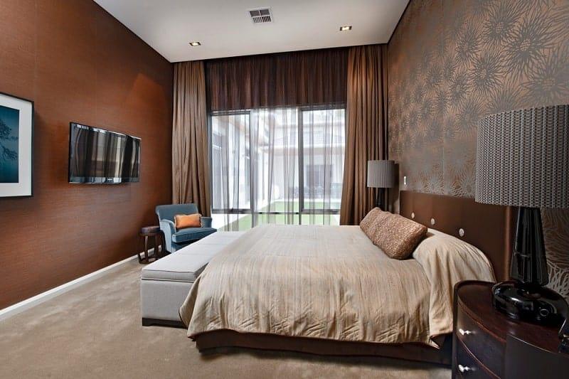 Luxury custom designed bedroom.