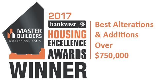 The 2017 Master Builders wining award for Exclusive Residence.